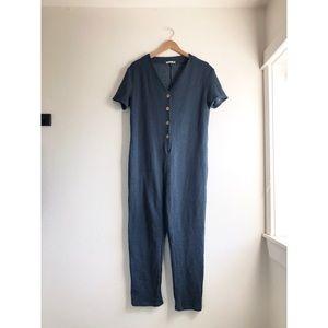 Zara trafaluc jumpsuit buttoned up sz:S comfy
